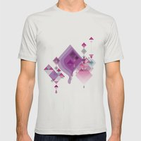 Abstract illustrations Mens Fitted Tee Silver SMALL