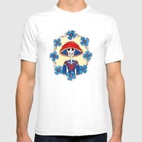 Catrina Doña Amelia Mens Fitted Tee White SMALL