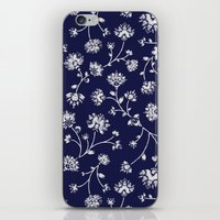 Indigo Floral Trail iPhone & iPod Skin
