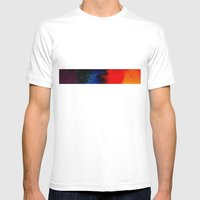 Multi-colors Mens Fitted Tee White SMALL