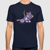 Cateye Of The Catvengers Mens Fitted Tee Navy SMALL