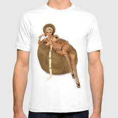 African Pin-up Mens Fitted Tee White SMALL