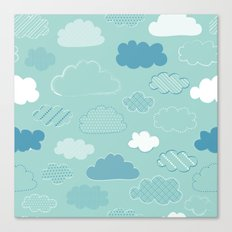 Patterned Clouds Canvas Print
