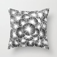 White Pinwheels Throw Pillow
