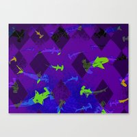 Argyle Frenzy In Amethys… Canvas Print