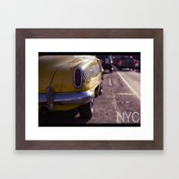 A Yellow Cab  Framed Art Print