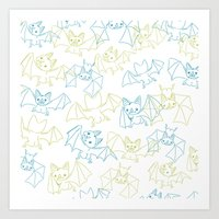 Bat Butts! Art Print