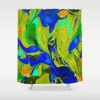 Green Flow Shower Curtain