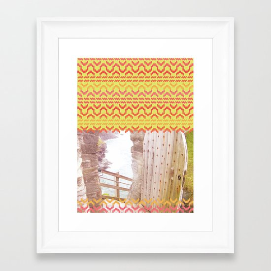 AZTEC 'Door Into Summer'_1-1 Framed Art Print