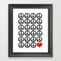 PEACE PEACE ANDLOVE Framed Art Print