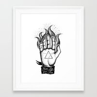 NEVER LOSE YOUR FIRE Framed Art Print