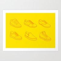 Phases Of Footwear Art Print