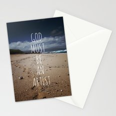 God Must Be An Artist Stationery Cards