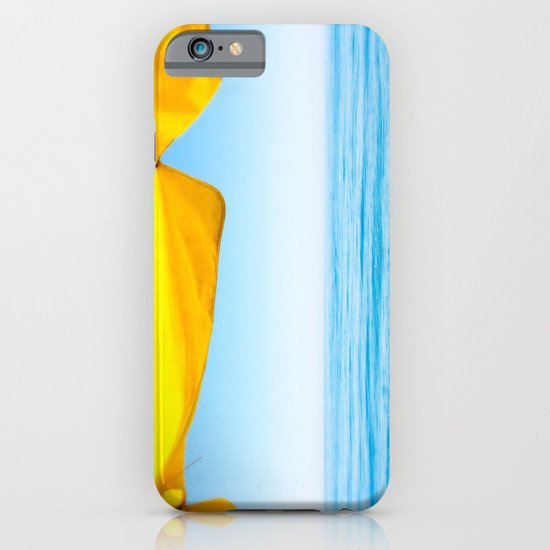 Yellow Beach Brolly with Blue Sea and Sky iPhone & iPod Case