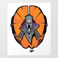 the Orange King Art Print