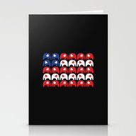 Stationery Cards featuring Stars And Stripes Elepha… by Elephant Love