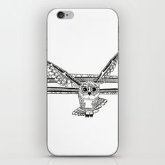 Owl fly you through the night iPhone & iPod Skin
