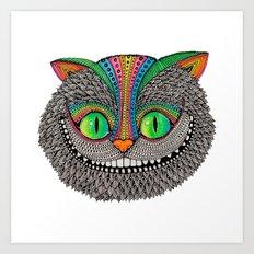 Alice´s Cheshire Cat By… Art Print