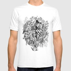 Snail Island Mens Fitted Tee White SMALL