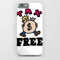 iPhone & iPod Case featuring tax free by benjamin chaubard