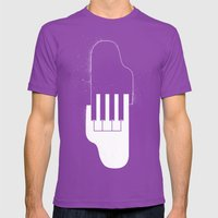 Music Hands Mens Fitted Tee Ultraviolet SMALL