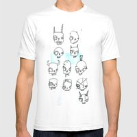 SKULLS THROUGH HISTORY Mens Fitted Tee White SMALL