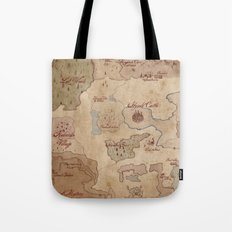Map of Hyrule- Legend of Zelda Tote Bag