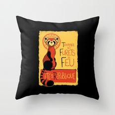 Les Furets de Feu Throw Pillow
