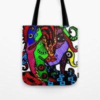 Lizard Princess Tote Bag