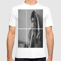 BOB DYLAN Mens Fitted Tee White SMALL