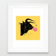 The Bull & The Bee Framed Art Print
