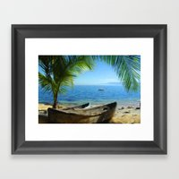 Boats at Las Caletas Framed Art Print