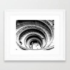 Spiral Staircase, Vatican Museum Framed Art Print