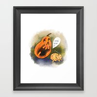 Kitty watch out! Framed Art Print