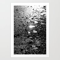 Shining footsteps Art Print