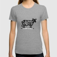bavette Womens Fitted Tee Tri-Grey SMALL