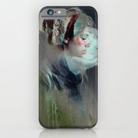 collage iPhone & iPod Cases featuring Self portrait by Feline Zegers