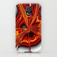 Galaxy S5 Cases featuring hot metal eruption by donphil.de