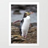 Henry the Penguin Art Print