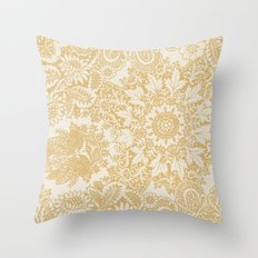 Floral in Yellow Throw Pillow