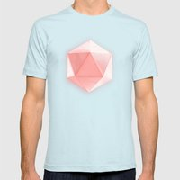 Spatial Geometry Mens Fitted Tee Light Blue SMALL
