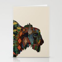 bison bone beige Stationery Cards