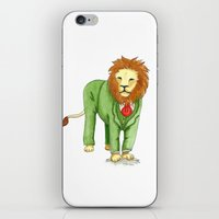 Lion in suit iPhone & iPod Skin