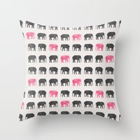 Elephant walk  Throw Pillow
