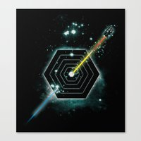 Space And Time Fragmenta… Canvas Print
