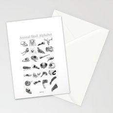 Animal Skull Alphabet Stationery Cards