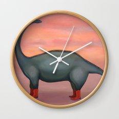 Broncosaurus 'Creature of the West' Wall Clock