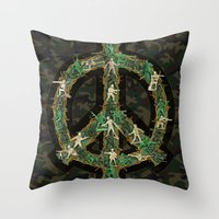 Peace Keepers Throw Pillow