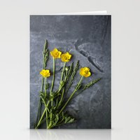 Hello Buttercup - Yellow Flower  Stationery Cards