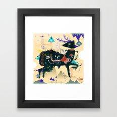 Lost piece Framed Art Print